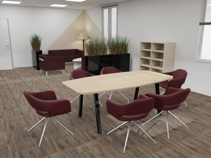 Table de réunion tonneau  Atmosphéric 6 personnes