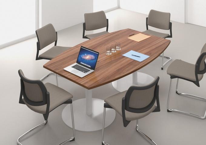 Table de réunion tonneau L180xP110 cm