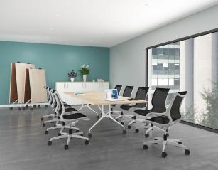 Table de réunion - Table pliante grandes dimensions Stratifié antibactérien