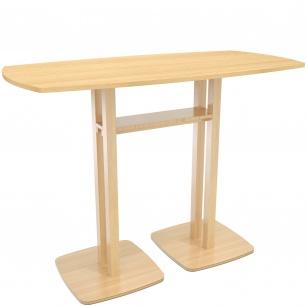 Table Hautes - Table de réunion debout WOOD