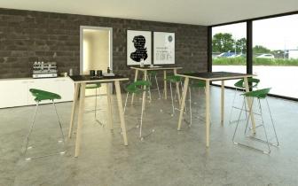 Table Hautes - Table de réunion haute Nature Wood