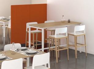 Table Hautes - Table de réunion haute pieds arche