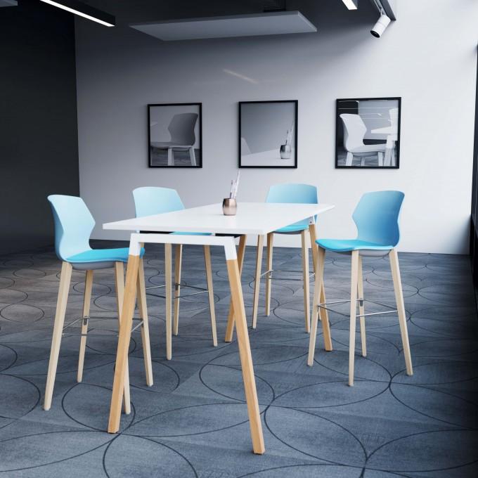 Table haute ARTY pieds bois