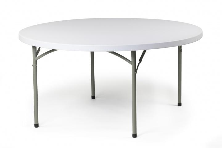 Table pliante ronde polyéthylène
