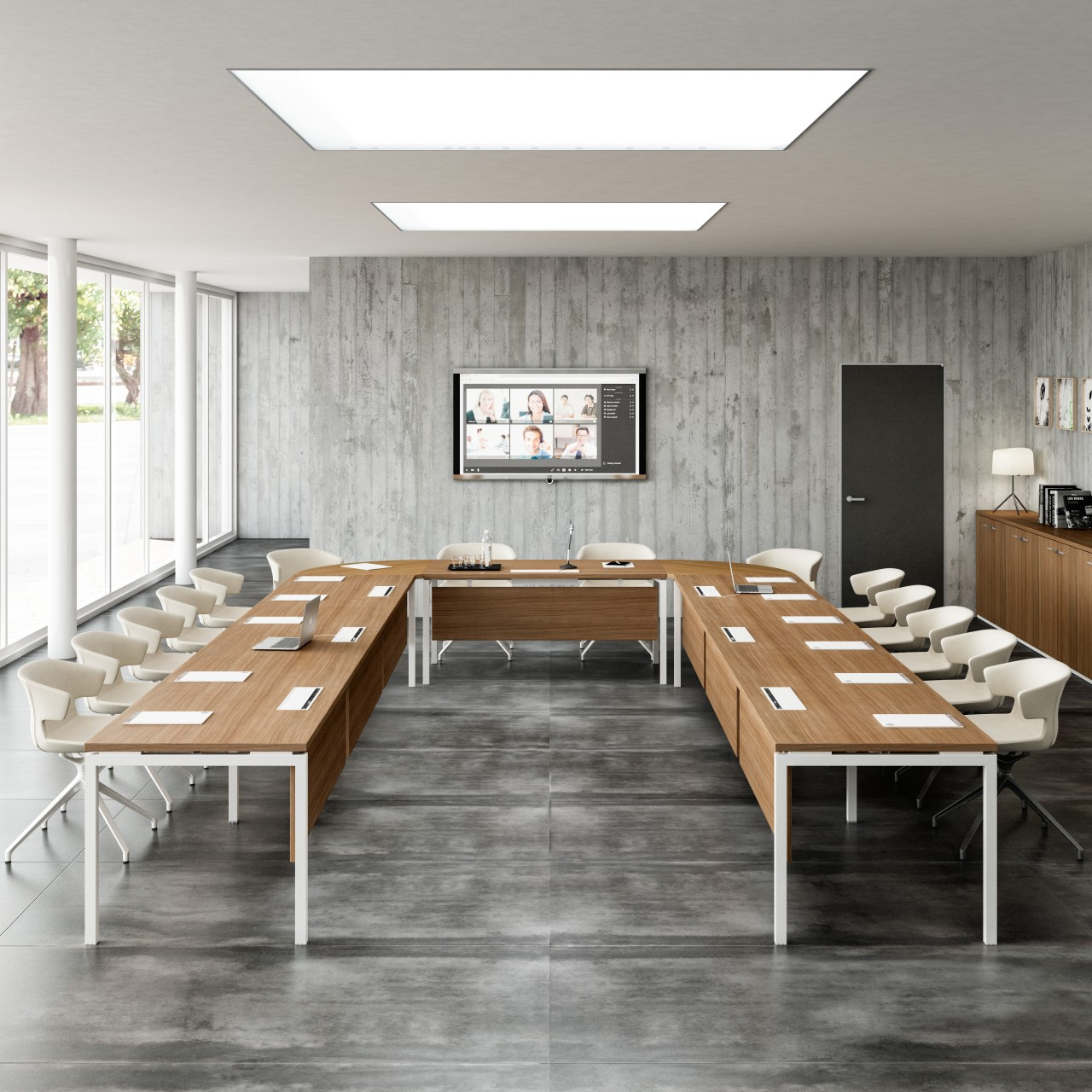 table de conf rence 12 personnes. Black Bedroom Furniture Sets. Home Design Ideas