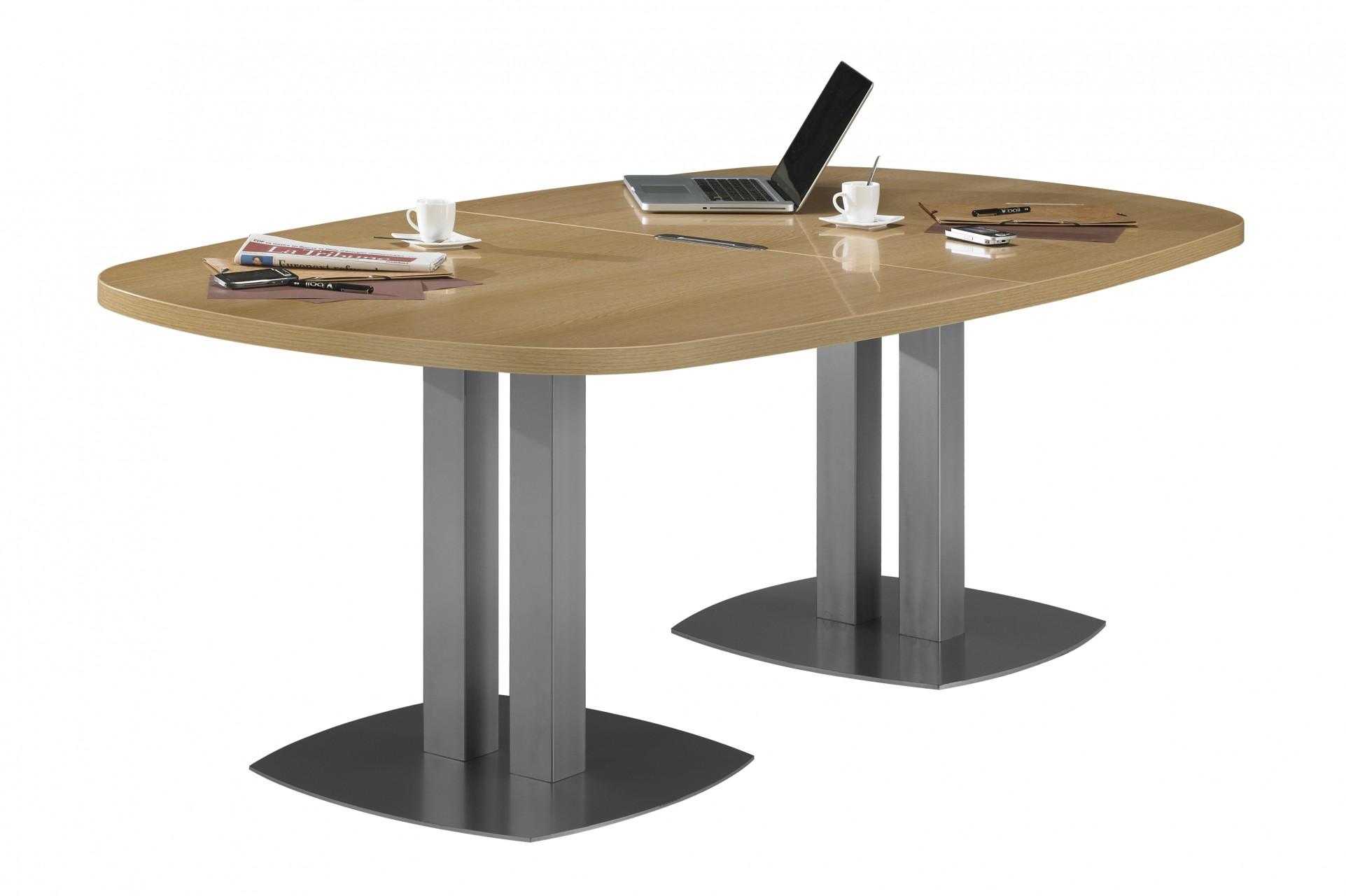 Table de r union 1 2 ovale sliver achat tables de - Grande table de reunion ...
