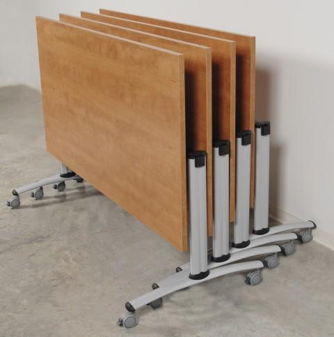 Table de réunion abattante basculante 160 cm