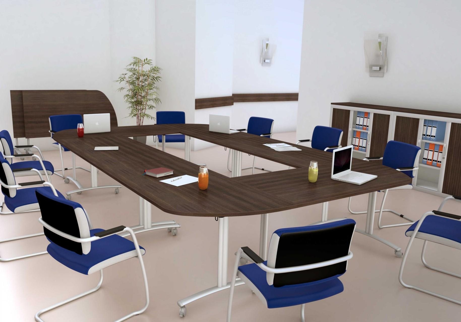 table de r union basculante abattante 120 cm achat tables de r union 349 00. Black Bedroom Furniture Sets. Home Design Ideas