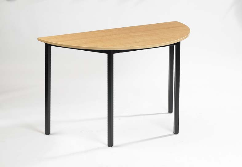 Table de r union demi lune milly achat tables de r union for Table de cuisine demi lune