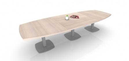 Tables de réunion - Table de réunion direction Tonneau 14/16 PL pieds carrés