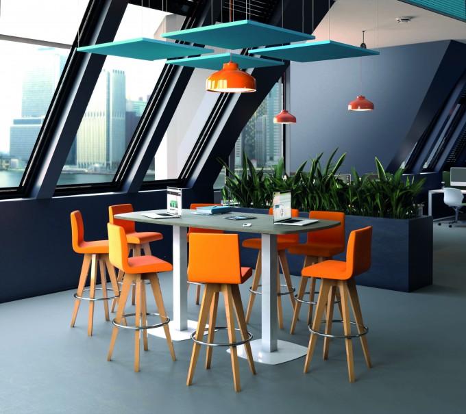 Table de réunion Haute Work-up