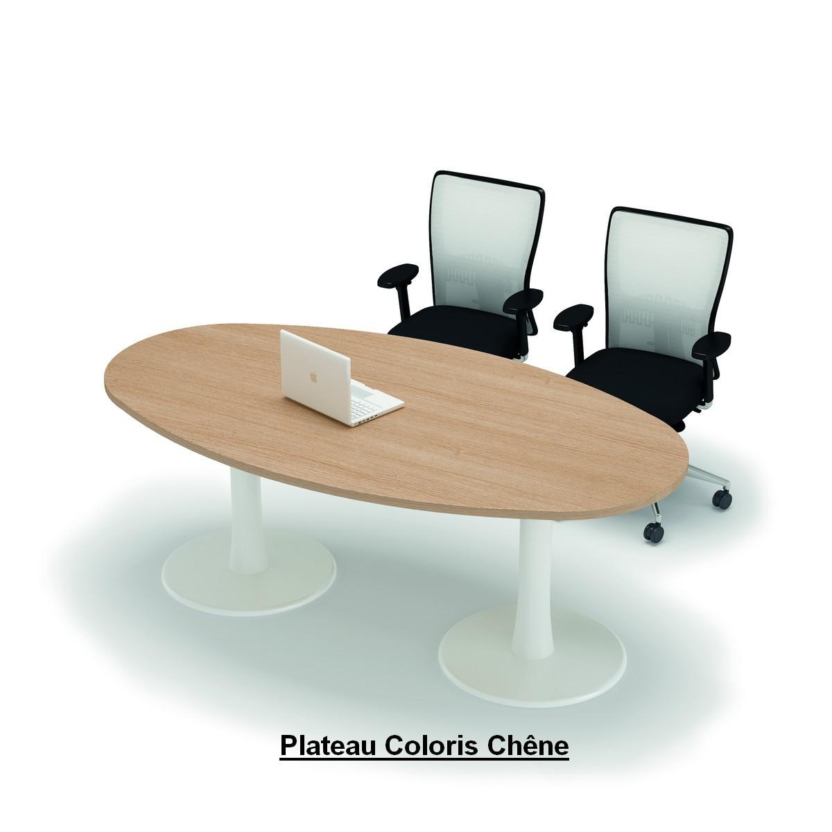 Table de r union ovale aqua achat tables de r union for Pieds de table originaux