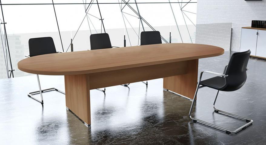 Table de réunion ovale Olympe 10-14 pers