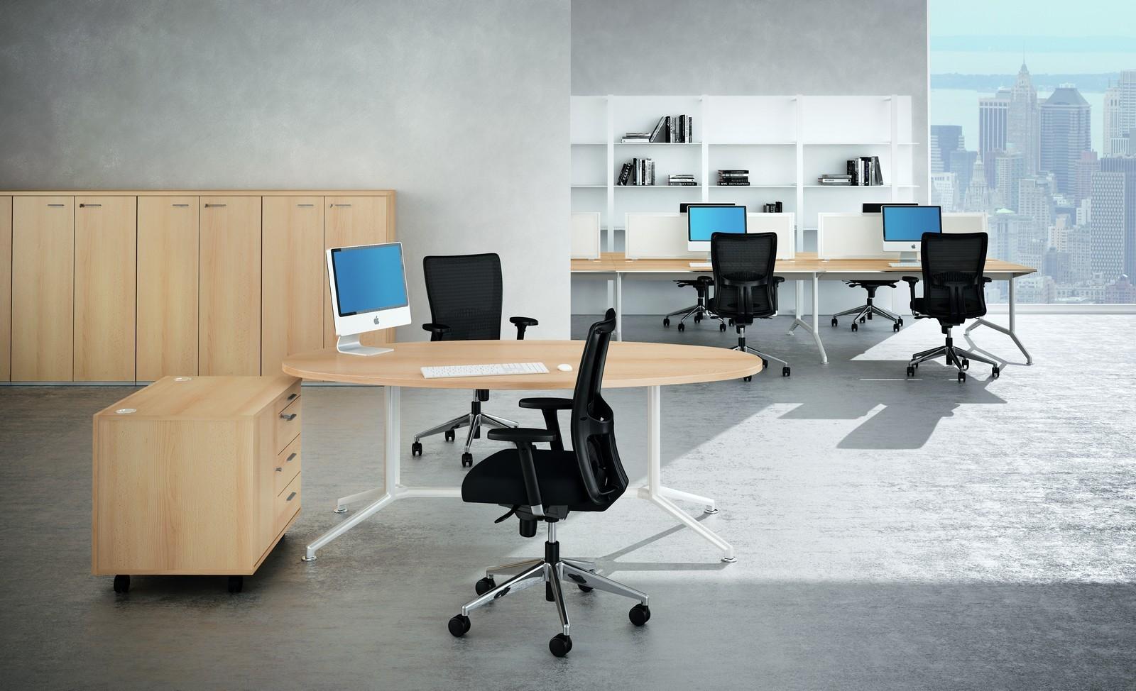 table de r union ovale venise achat tables de r union 549 00. Black Bedroom Furniture Sets. Home Design Ideas