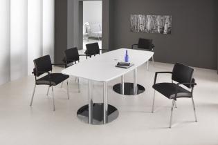 Tables de réunion - Table de réunion pieds Chrome