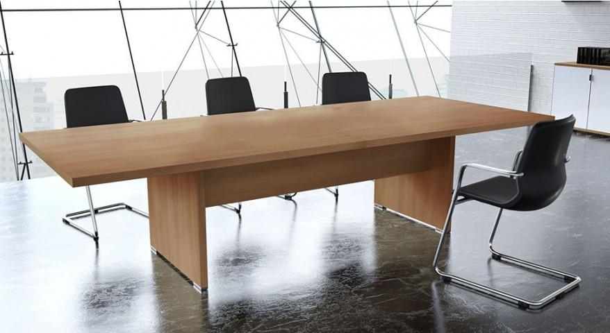 Table de réunion rectangulaire Olympe 10-14 pers