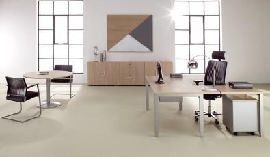 table de r union ronde 4 personnes. Black Bedroom Furniture Sets. Home Design Ideas