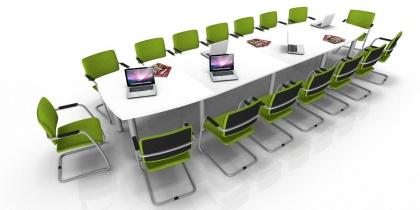 Tables de réunion - Table de réunion Tonneau 18/20 Places pieds ronds