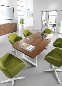 Tables de réunion - Table de réunion Tonneau 6/8 Pers AVENE+