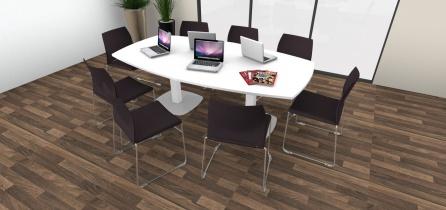 Tables de réunion - Table de réunion tonneau 8/10 places pieds tulipe