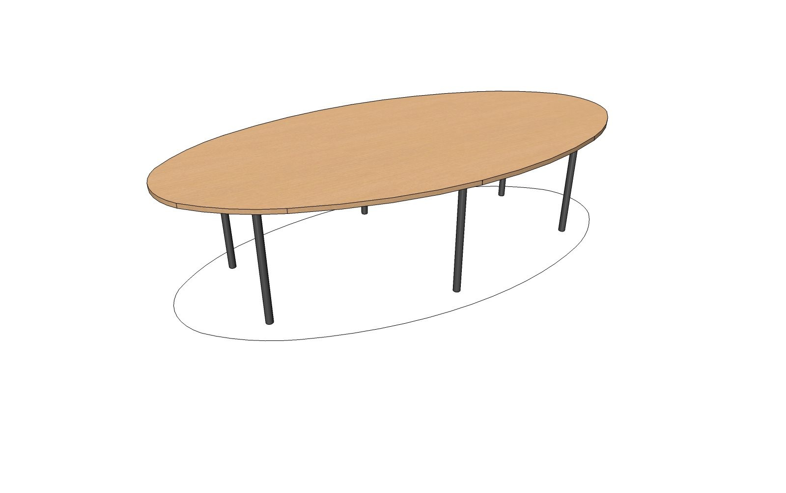 Table ovale 10 12 personnes achat tables de r union for Table 12 personnes
