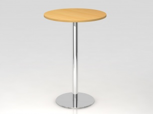 Tables Hautes - Table de réunion haute ronde 80 cm
