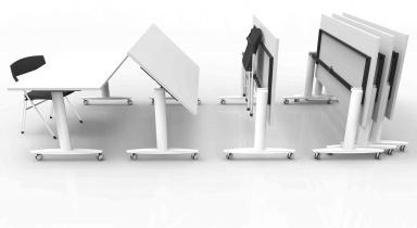Tables pliantes et abattantes - Table abattante Dandy