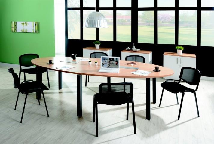 table ovale 10 12 personnes. Black Bedroom Furniture Sets. Home Design Ideas